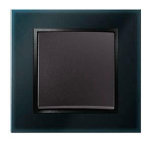 Стеклянная рамка, цвет: черный B.7 Glas Berker
