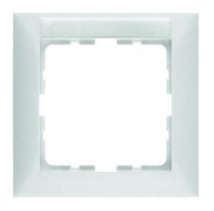 Рамка с полем для надписей, цвет: белый, с блеском S.1 Berker