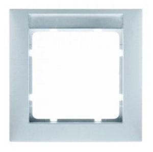 Рамка с полем для надписей, цвет: полярная белизна, с блеском S.1 Berker
