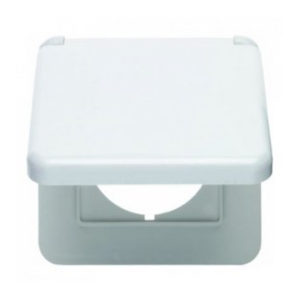 Рамка с откидной крышкой для центральной панели 50 х 50 мм цвет: полярная белизна, с блеском modul 2 berker