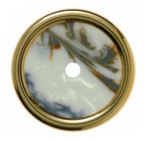 Декоративная оконечная накладка для поворотных выключателей/кнопок, цвет: белый Berker Palazzo