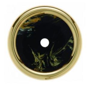 Декоративная оконечная накладка для поворотных выключателей/кнопок, цвет: черный Berker Palazzo
