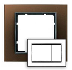 Рамка с большим вырезом, цвет: коричневый/антрацит В.3 Berker