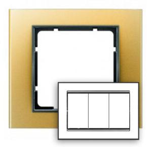 Рамка с большим вырезом, цвет: золотой/антрацит В.3 Berker
