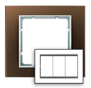 Рамка с большим вырезом, цвет: коричневый/полярная белизна В.3 Berker