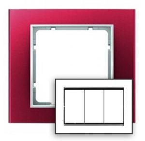 Рамка с большим вырезом, цвет: красный/полярная белизна B.3 Berker