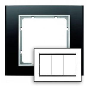 Рамка с большим вырезом, цвет: антрацит/полярная белизна B.3 Berker