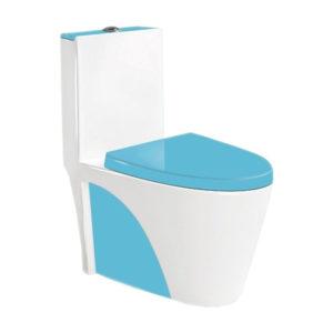 Унитаз-моноблок 9168, цвет синий