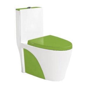Унитаз-моноблок 9168, цвет зеленый