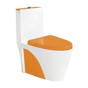 Унитаз-моноблок 9168, цвет оранжевый