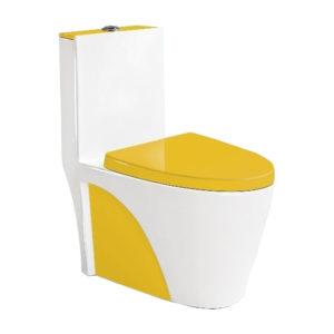 Унитаз-моноблок 9168, цвет желтый